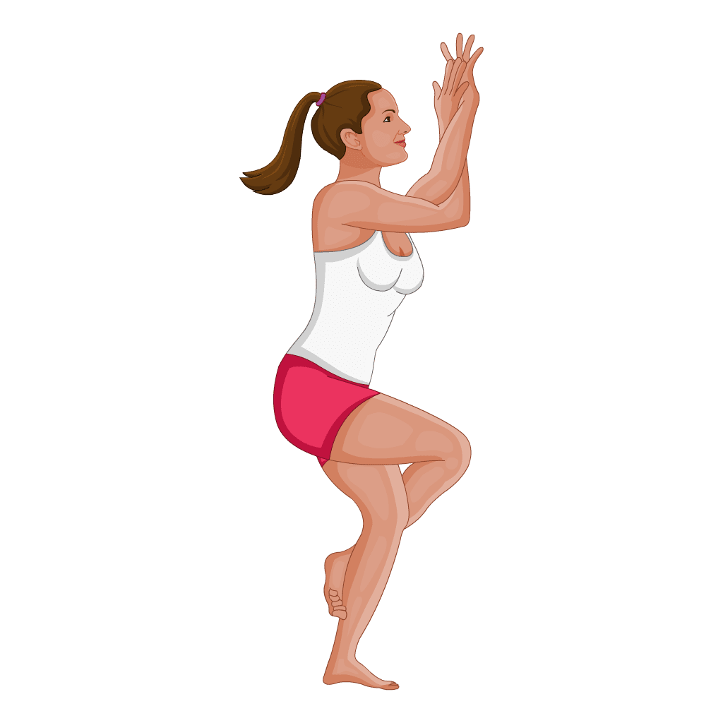 ac2ee4ca092ec Eagle Pose, or Garudasana as it's called in Sanskrit, is a balancing  position that resembles a twisted pretzel. There is a lot going on in this  position ...