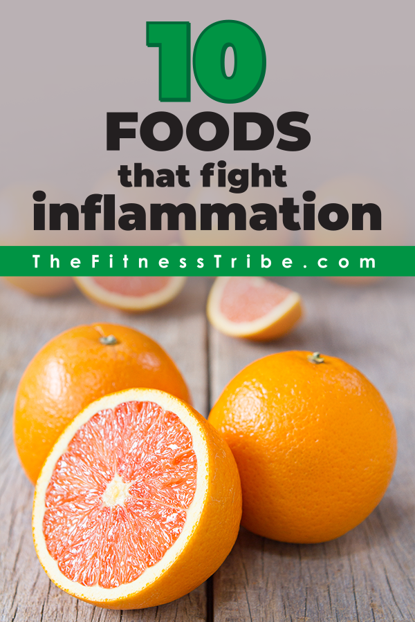 Next time you go to the grocery store take this list of 10 foods that help fight inflammation.