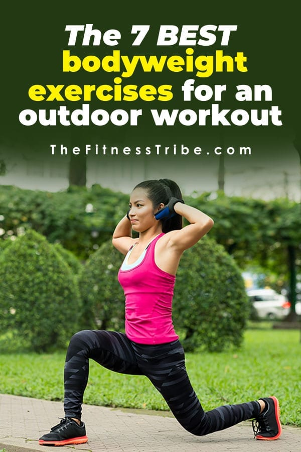 If you are used to working out in a gym or at home, getting outside to workout can be extremely refreshing. Below are seven great body weight exercises you can do next time you head outdoors for a workout.