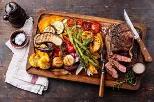 Grilled Beef Steak With Vegetables