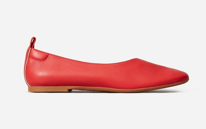 Womens Red Flats
