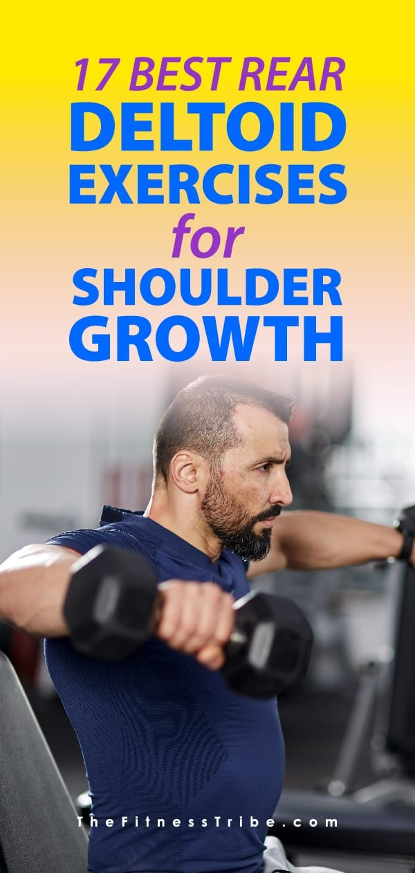 Often times the rear deltoids are not targeted in common workouts. This can lead to imbalances. If you want to have big, balanced shoulders, make sure to do all of these exercises!