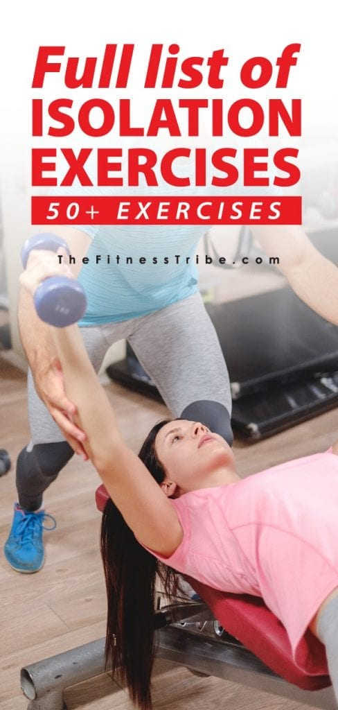 List Of Isolation Exercises By Muscle Group The Fitness Tribe