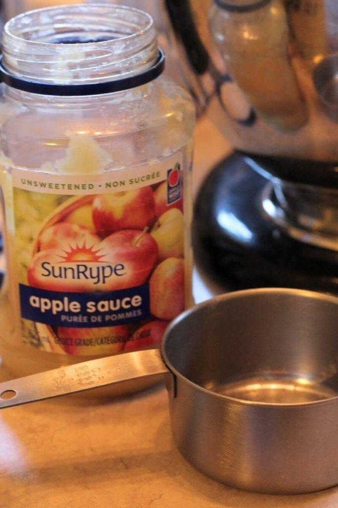 Apple Sauce In A Glass Jar