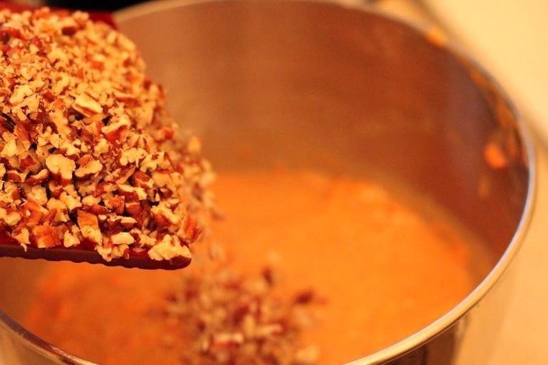 Adding Pecan Nuts