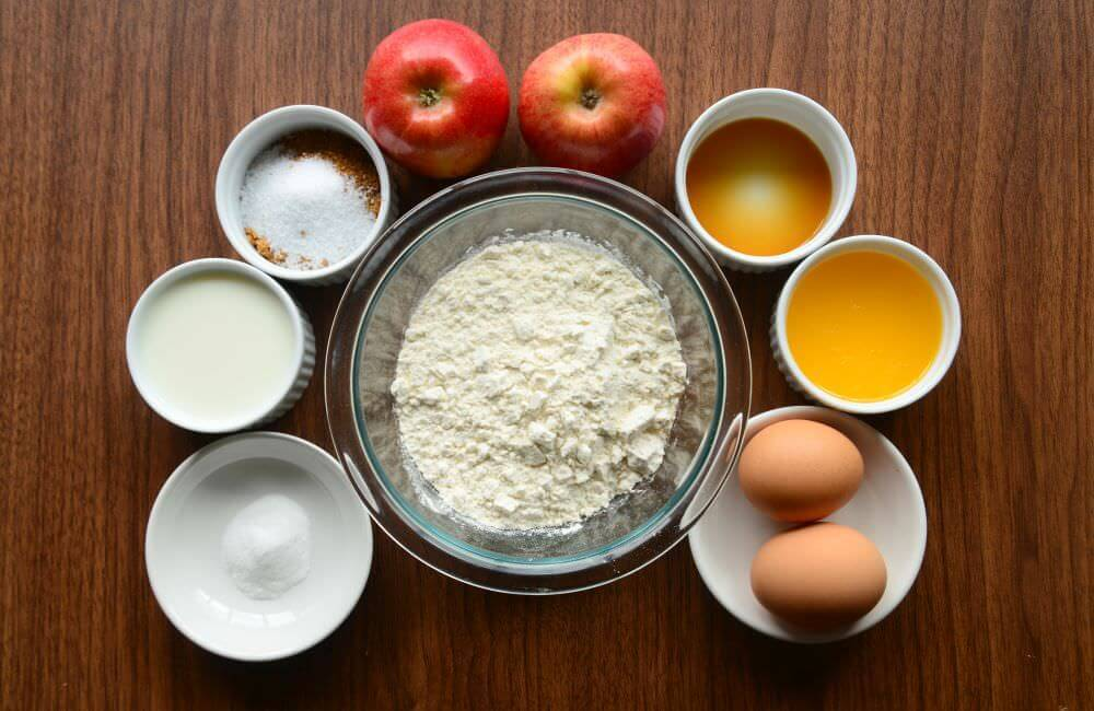 Ingredients For Sugar Free Apple Muffins