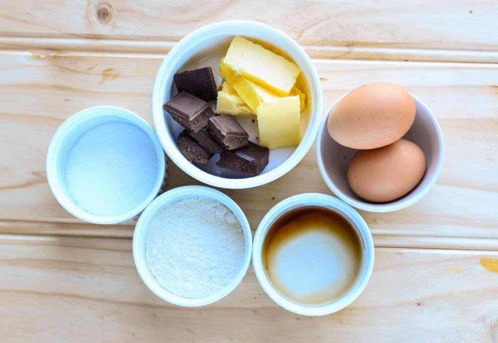 Sugar Free Chocolate Lava Cake Ingredients