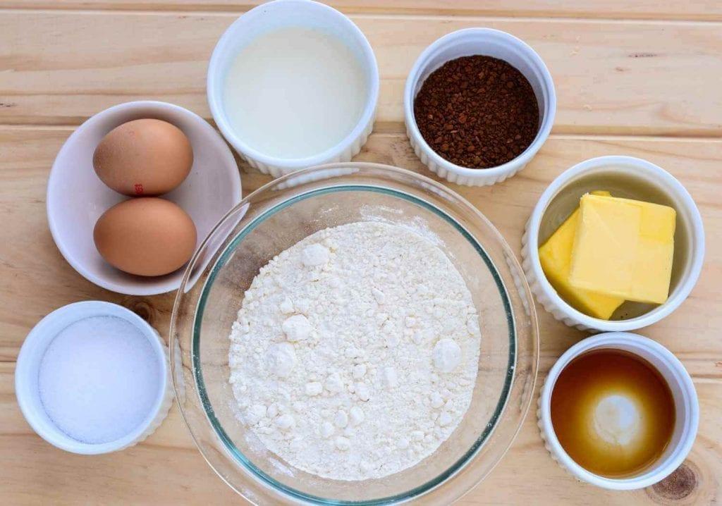 Ingredients for Sugar Free Coffee Cake