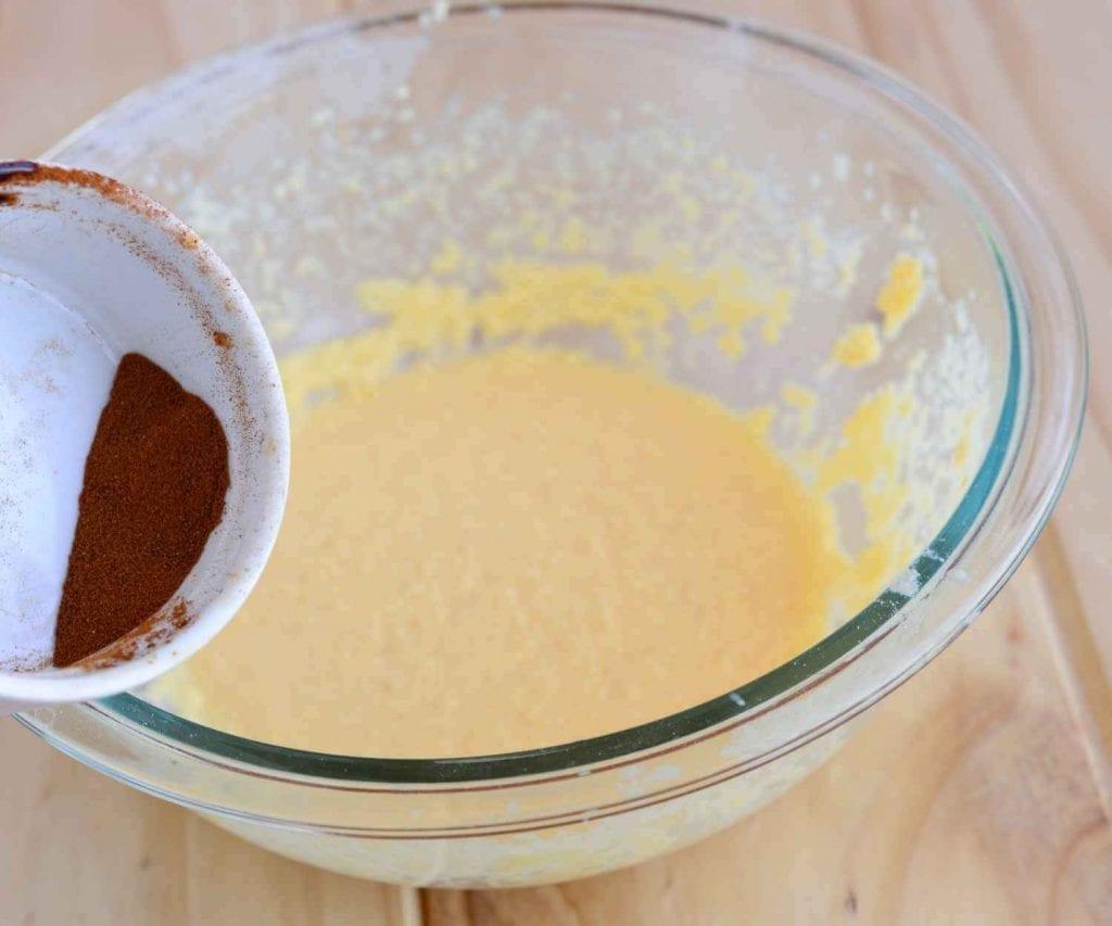 adding coffee powder