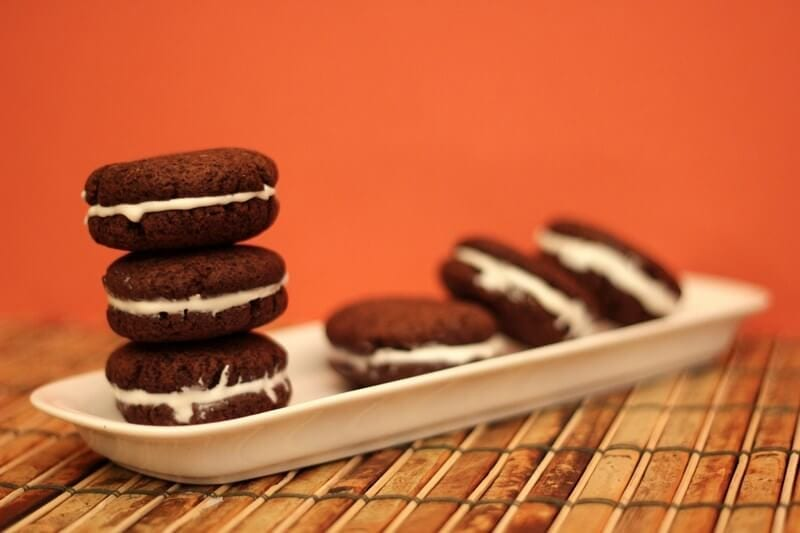 cookie parts combined into oreos