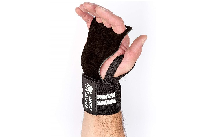 BEAR GRIP CROSSFIT Leather palm gloves protector wrist support wraps Review